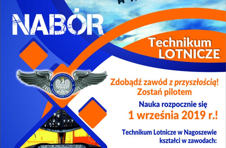 Plakat – Nabór do Technikum Lotniczego