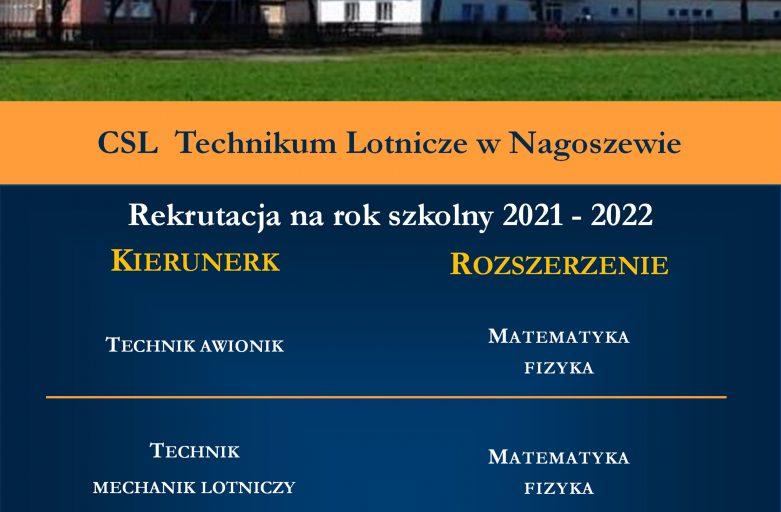 Oferta edukacyjna CSL technikum Lotnicze w Nagoszewie